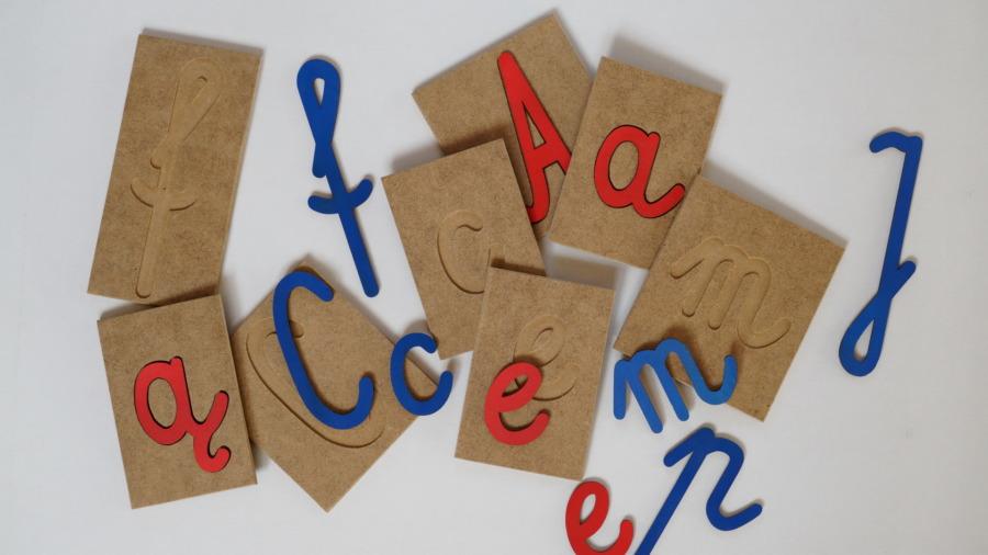 Żłobiony alfabet pisany – cz.1